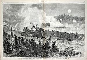 Battle of Dallas - Image: General Logan at the Battle of Dallas, May 1864