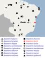 Geographical distribution of Ananteris kuryi scorpions.png