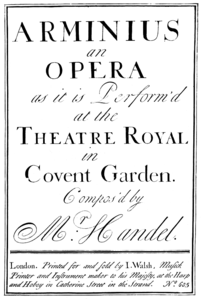 Georg Friedrich Händel - Arminio - title page of the score - London 1737.png