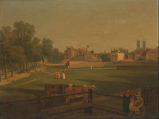 A Western View of part of Westminster and Bird Cage Walk taken from the Mill House...,