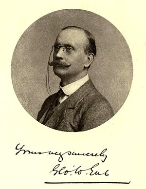 George Eve - George Eve, c. 1911, and his signature.