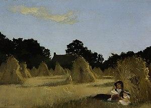George Francis Carline - George F. Carline - A Harvest Landscape