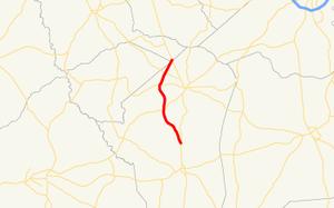 Georgia State Route 296 - Image: Georgia state route 296 map