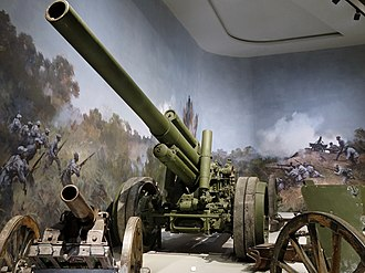15 cm sFH 18 - Rheinmetall FH-18 32/L in Military Museum of the Chinese People's Revolution