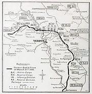 German dispositions, Verdun, 31 March 1916