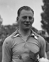 A black-and-white photograph of Gerrit Keizer, one of the first footballers from outside Great Britain and Ireland to play in English football.