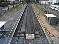 Gerzat - Ligne ferroviaire depuis passerelle (vers Clermont-Ferrand) 2016-09-09.JPG
