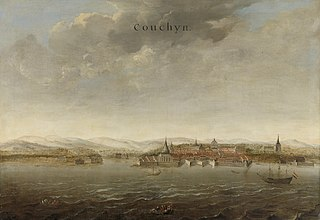 View of Cochin on the Malabar Coast of India