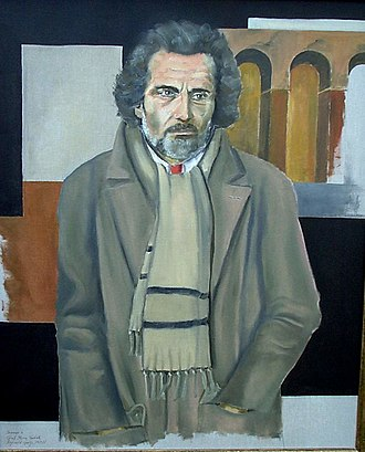 Gian Maria Volontè - Hommage to Gian Maria Volonté (seen in his role as Carlo Levi in Christ Stopped at Eboli) by Reginald Gray