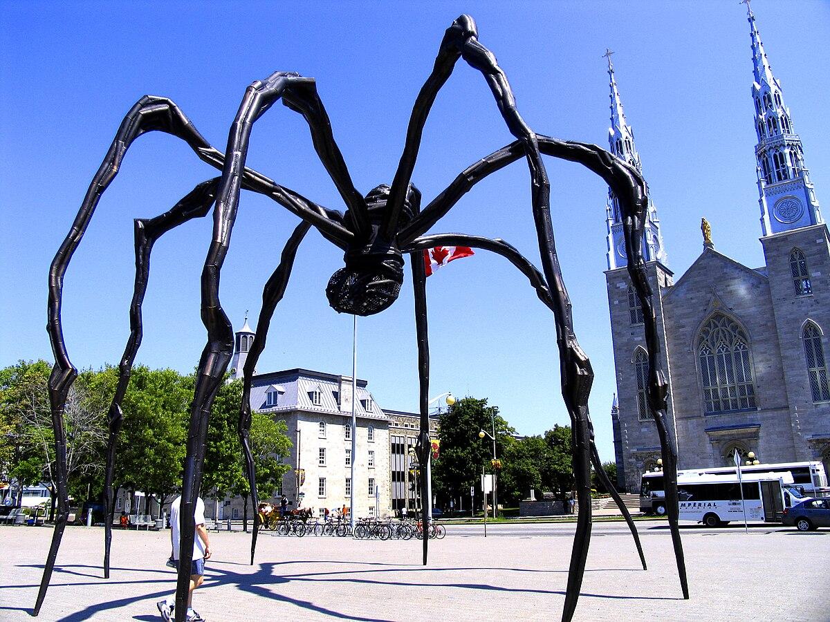 sculpture l'araignee