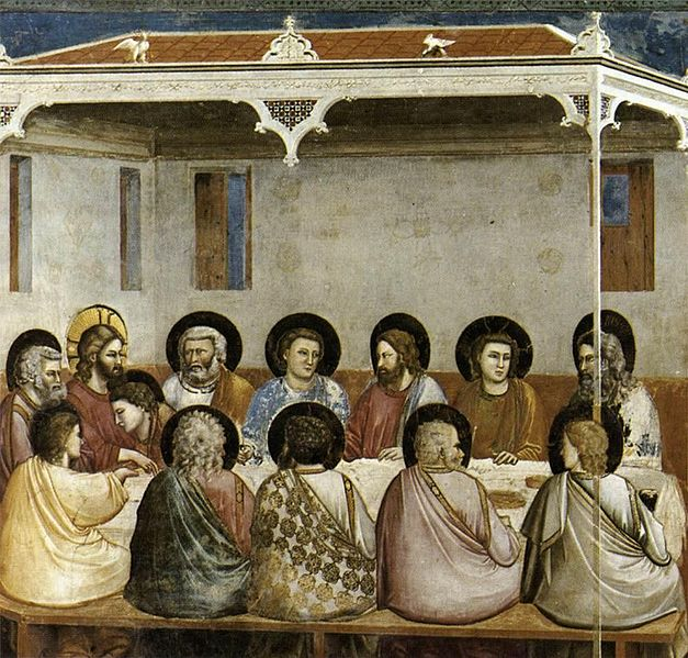 File:Giotto di Bondone - No. 29 Scenes from the Life of Christ - 13. Last Supper - WGA09214.jpg