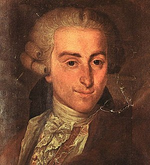 Giovanni Battista Sammartini - Image: Giovanni Battista Sammartini, portrait by Riccardi (detail)
