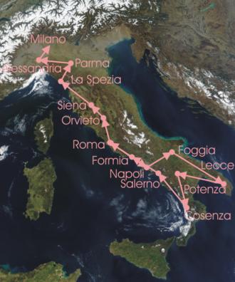 1929 Giro d'Italia - Race Route
