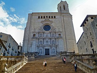 Blood of My Blood - The Cathedral in Girona, Spain stood in for the Great Sept, with some extending CGI altering the building.