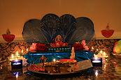 Goddess Lakshmi inside a home for Diwali Puja.jpg