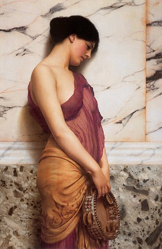 1906 in art - Image: Godward The Tambourine Girl 1906