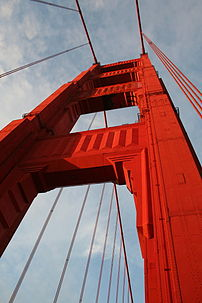 Pillar of Golden Gate Bridge.