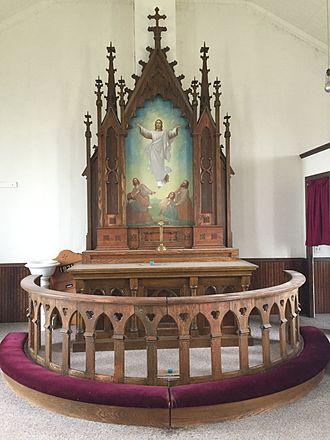 Golden Valley Norwegian Lutheran Church - Norwegian made church altar