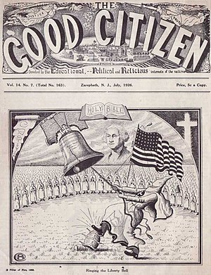 White supremacy - The Good Citizen 1926, published by Pillar of Fire Church