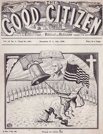 The Good Citizen 1926, published by Pillar of Fire Church Good Citizen Pillar of Fire Church July 1926.jpg