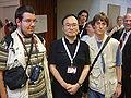 Gosho Aoyama with two fans.jpg