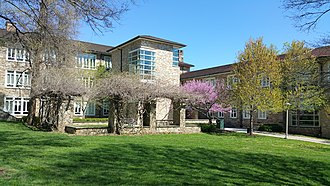 Goucher College - The entrance to Van Meter Hall