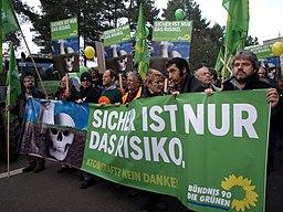 Grüne protests against nuclear energy