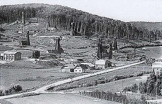 Ignacy Łukasiewicz - Oil wells, Grabownica Starzeńska, 1930s