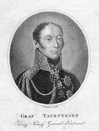 Bogislav Friedrich Emanuel von Tauentzien - Tauentzien in 1816.