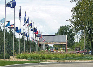 Grand Forks Air Force Base - Main Gate at Grand Forks AFB