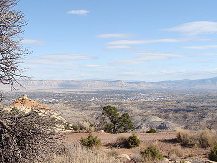 The city of Grand Junction, in the heart of The Grand Valley Grand Valley, Colorado.jpg