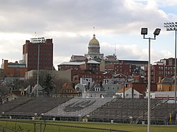 Downtown Greensburg with Offutt Field in view