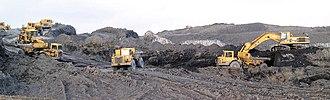 Grimethorpe - Remediation of a slag heap in 2006; left from Grimethorpe's mining days.