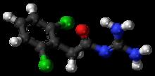 Guanfacine molecule ball.png