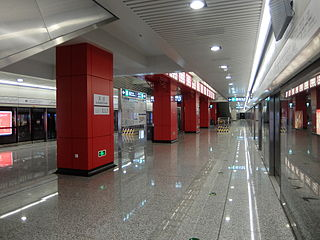 Guanzhuang station (line 15) Beijing Subway station