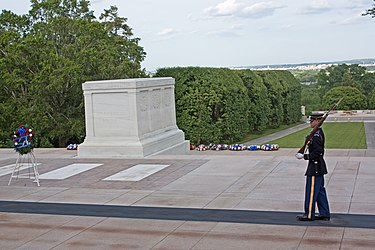 Guard at the Tomb of the Unknowns in Arlington National Cemetery.jpg