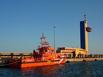 Port of Almeria - Guardamar Calíope (G-40) close to the CCS in Almería, owned by the Sociedad de Salvamento y Seguridad Marítima.