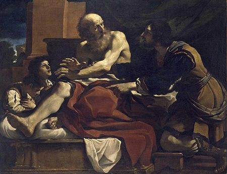 Guercino Jacob Ephraim and Manasseh