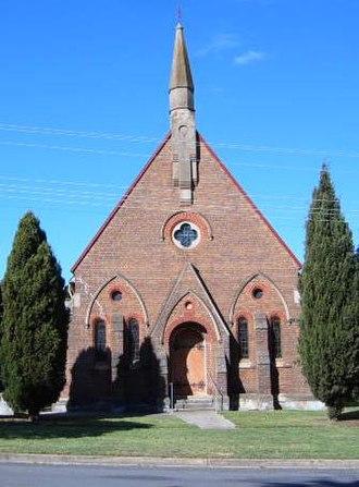 Gunning, New South Wales - Image: Gunning Uniting Church