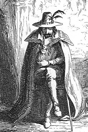 Prent vanuit william harrison ainsworth se roman guy fawkes soos