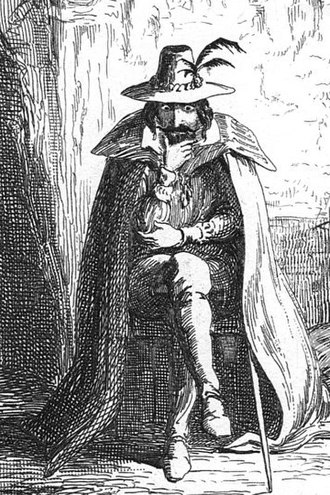 Guy Fawkes - George Cruikshank's illustration of Guy Fawkes, published in William Harrison Ainsworth's 1840 novel, Guy Fawkes.