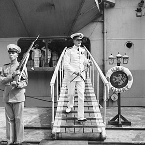 HMS Glory (R62) - Image: Guy Russell 1951 AWM HOBJ2403