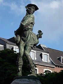 Hühnerdieb, Brunnenfigur, Aachen.jpg