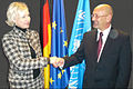 H.E. Irving Levance shakes hands with MEP Kristiina Ojuland.jpg