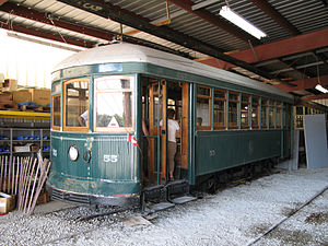 Toronto Civic Railways - Toronto Civic Railways Preston-built car 55 is preserved at the Halton County Radial Railway museum.