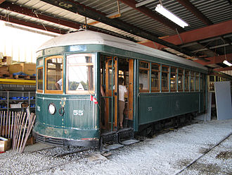 Preston Car Company - Toronto Civic Railways streetcar 55, one of the few surviving Preston products, is preserved at the Halton County Radial Railway museum.