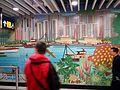HK ALC 港鐵 MTR 海怡半島站 South Horizons Station platform wall mural Mosaics art 香港仔避風塘 Aberdeen Typhoon Shelter Soaring Horizons 翱遊半島 Pow Chuek Mei 鮑卓微 Dec 2016 Lnv2 02.jpg
