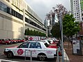 HK CWB Tin Hau morning Hing Fat Street outdoor carpark Taxi ads TaiPan Snowy Mooncake Sept-2015.JPG