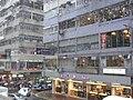 HK Causeway Bay 利舞臺廣場 Lee Theatre Plaza view rainy 波斯富街 Percival Street 01 up-stair shops.JPG