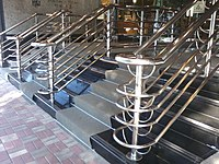 HK Central Murray Road Hutchison House entrance stairs stainless steel fences Nov-2012.jpg